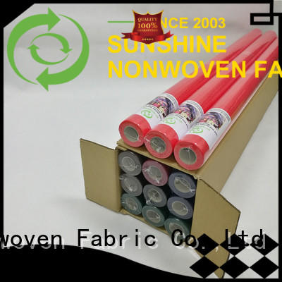 Sunshine bright non woven fabric tablecloth wholesale for desk