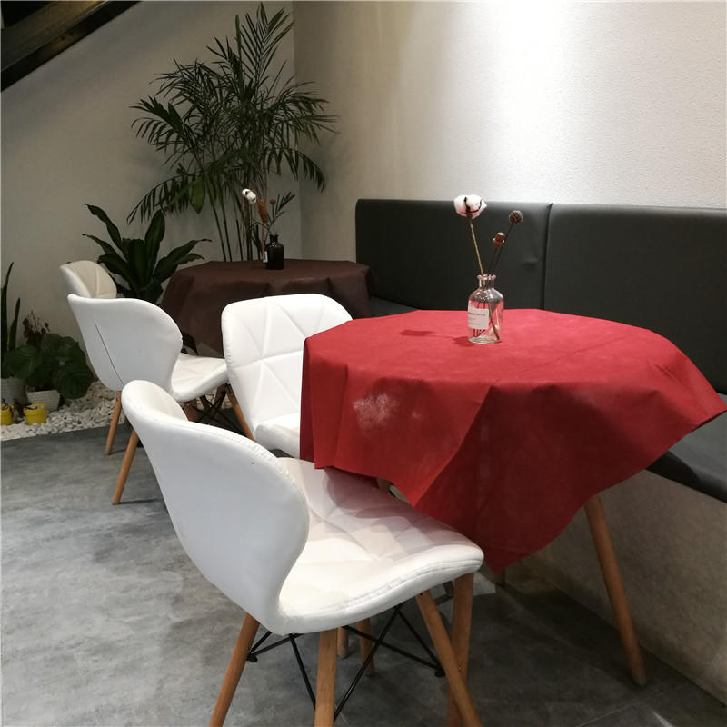 colorful non woven fabric tablecloth tnt wholesale for desk-1