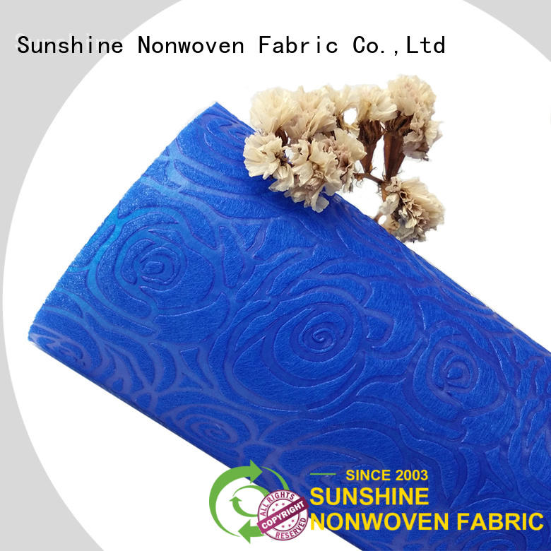 Sunshine pattern non woven embossing inquire now for bedding