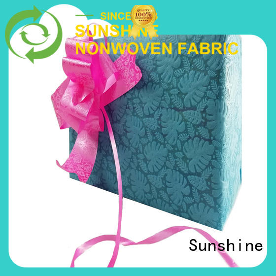 Sunshine material non woven embossing with good price for covers