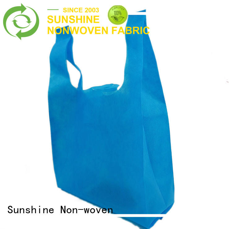 single non woven shopping bag polyester wholesale for bedroom