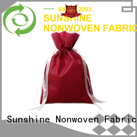 Sunshine folded non woven carry bags wholesale for household