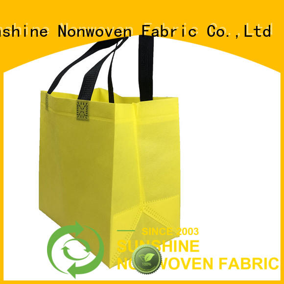 Sunshine waterproof non woven shopping bag factory for home